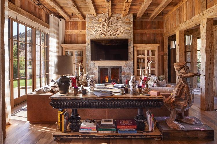 Inside Mount Daly, a luxury ranch home in Aspen, Colorado.